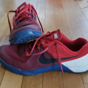 Nike Metcon 1 Red/White/Blue. Size:10